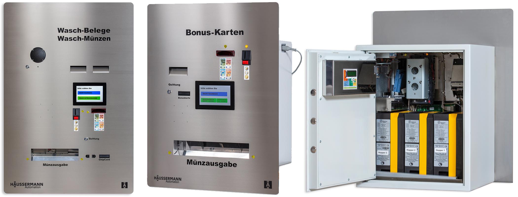 Häussermann Automaten zum Wechseln und Bezahlen